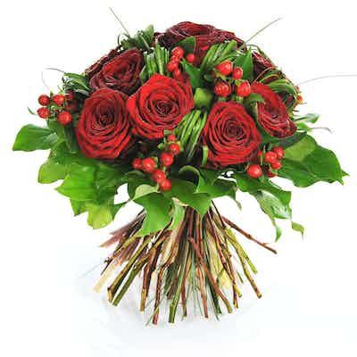 roses rouges bouquet fleuriste livraison livrer