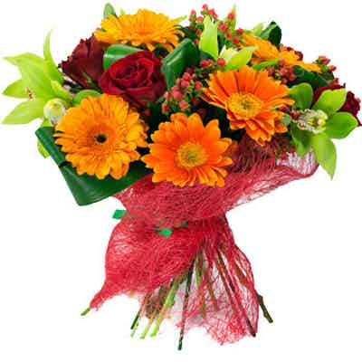 bouquet fleurs livraison coloré