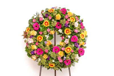 couronne fleurs livraison Bolsenaro fleuriste livrer hommage obsèques deuil